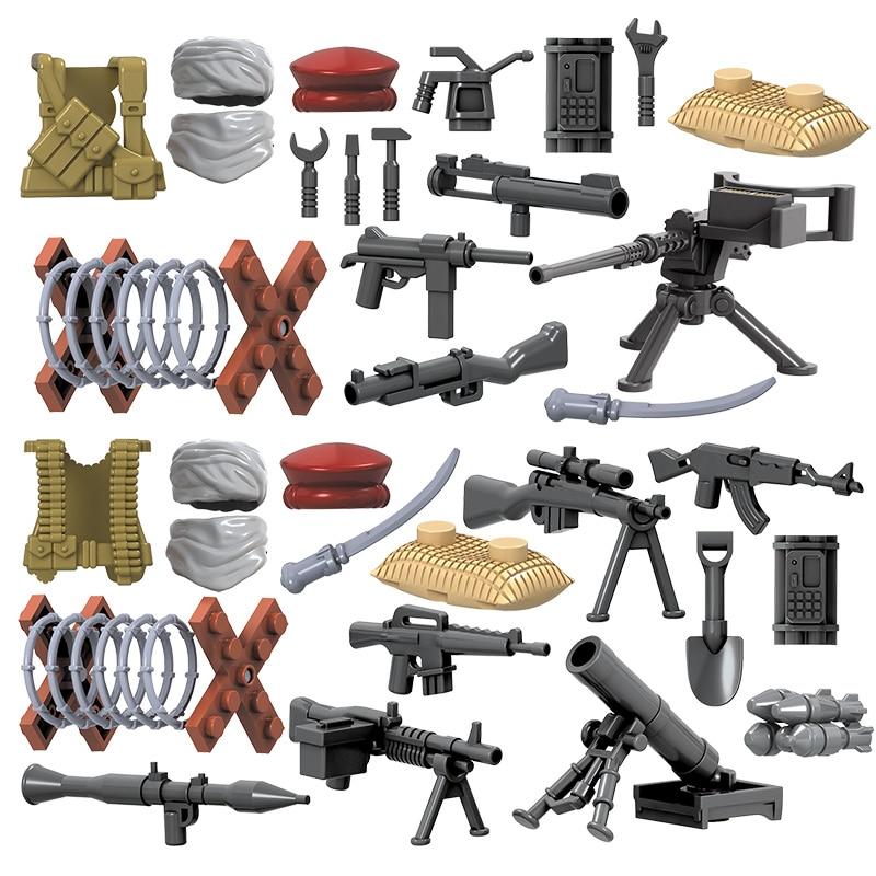 4pcs / lot SWAT Hərbi Şəkil II Dünya Müharibəsi Ordu - Uşaq konstruktorları - Fotoqrafiya 6