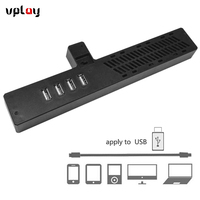 VPLAY New 4 Ports USB Hub Black Cooling Cooler Fan Console Accessory Cooling Pad For Microsoft