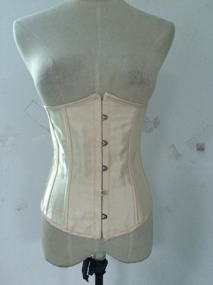 free shipping  Clearance Lady Cincher Underbust chamgagne Stain Bustier Boned Cupless Body Shaper Corset
