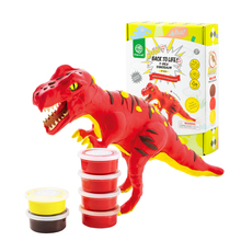 Robotime 6 Kinds Dinosaur Modeling Clay Super Light Polymer Creative DIY Clay Creative Slim Toy Gift for Children FY