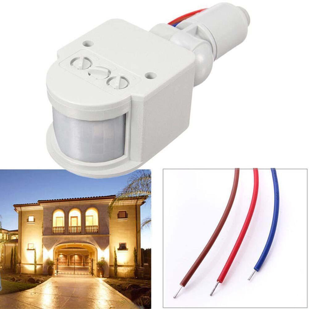 15M AC110V-220V PIR 10-100W Infrared Motion Sensor Universal Inductive Switch Identify Day And Night Automatically Easy Install