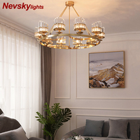Luxury Chandeliers for living room Modern led Lamp With Lampshade Pendant Chandelier Light Fixtures lustres de teto para sala
