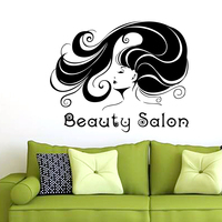 Hair Salon Sticker Beauty Decal Haircut Name Posters Time Hour Vinyl Wall Art Decals Decor Decoration Mural Salon Sticker M0018