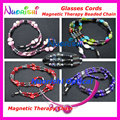5 designs High Classic Very Nice Magnetic Stone Beaded Eyeglasses Sunglasses Eyewear Spectacle Chain Cords free shipping