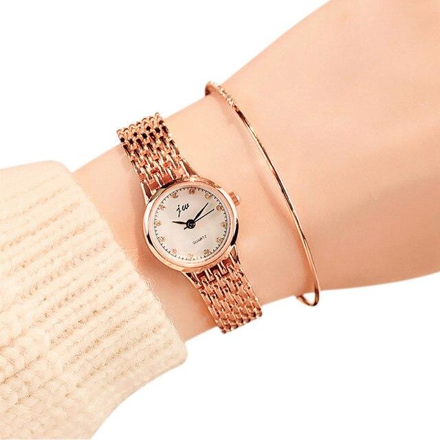 6690cc0f7bb Relogio feminino 2017 Mulheres Relógio de Pulso de Quartzo Pequeno  Mostrador do Relógio Delicado Negócio Analógico