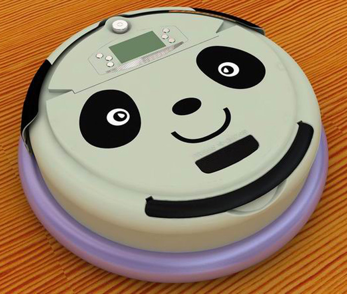 Free Shipping  4 In 1 Multifunctional Robotic Vacuum Cleaner With Lovely Panda Face for your Lovely Wifi,Dirt Detection Function free shipping best christmas gift for wife 4 in 1 multifunctional robot vacuum cleaner with lowest noise good for babies