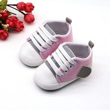 Baby Boys Girls Shoes Soft Sole Sneakers Anti-Slip Outdoor Walking Toddler Shoes Fashion Cute Little wing Casual Canvas 0-18M(China)