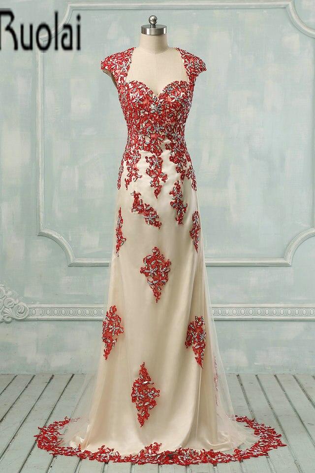 Lace up back evening dresses