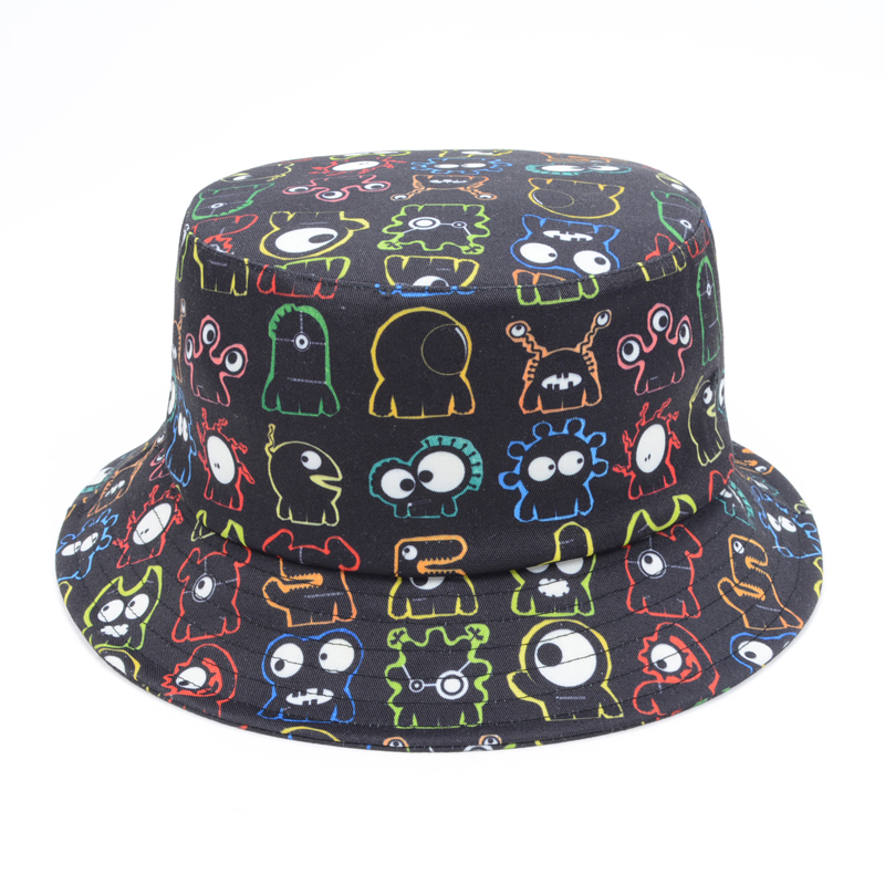 Unique Big Eye Monster Print Bucket Hat Men Women White Black Emoji  Fisherman Caps Outdoors Travel Bob Cotton Sunbonnet Goldtop-in Bucket Hats  from Apparel ... cb616144683