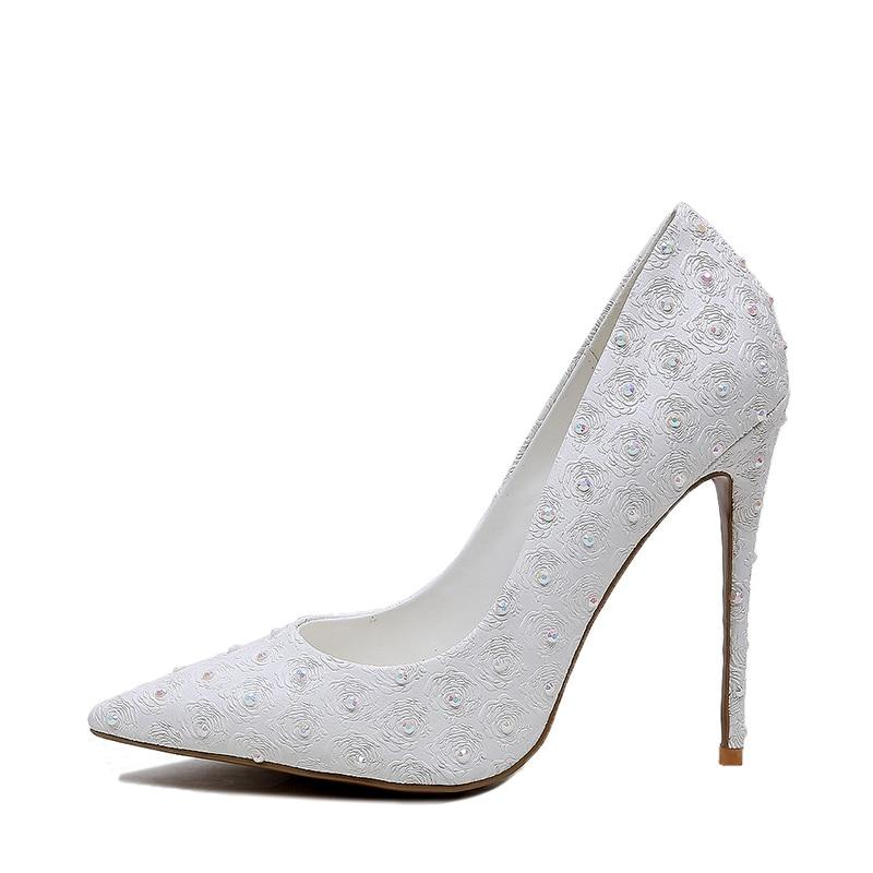 Pointu Chaussures Enmayla White Talons Zyl2227 Décontracté 34 Zapatos Vestir 2018 Taille Femmes Slip Bout De Pompes Mince Mujer on 43 Moda 5FBFSgnq