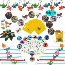 Вечерние сумки с динозавром для детского дня рождения, вечерние игрушки, кольца, браслеты, татуировки, динозавры, вечерние товары, подарки для детского душа