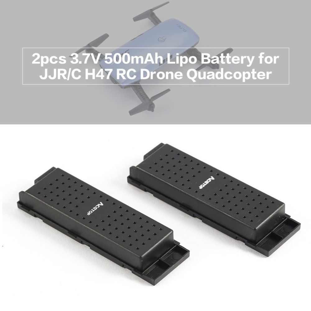 2 pièces Original 3.7 V 500 mAh RC avions Lipo batterie pour JJRC H47 Drone RC quadrirotor Wifi Drone batterie RC hélicoptères Batteries