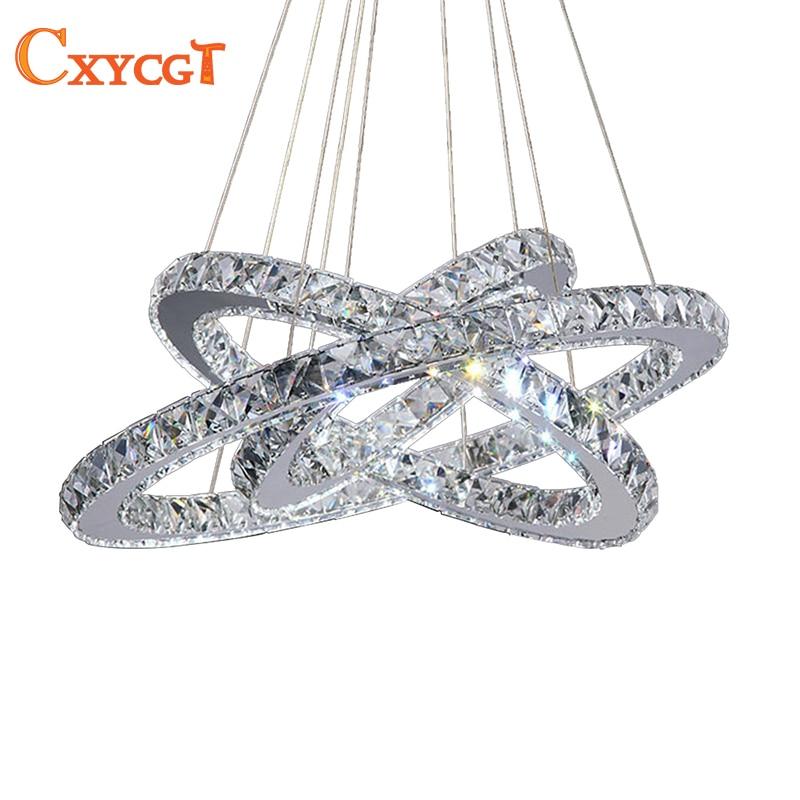 3 Diamond Ring LED Crystal Chandelier Light Modern LED Lighting Circles Lamp 100% Guarantee Fast and Free Shipping стоимость