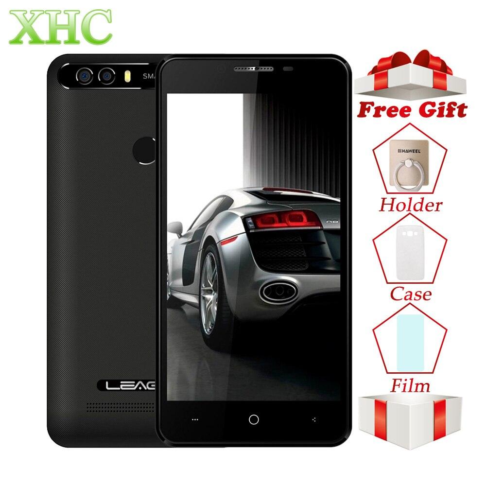 Оригинальный LEAGOO KIICAA смартфон питания 2 ГБ/16 ГБ двойной задней камерами отпечатков пальцев 5,0 ''Android 7,0 MTK6580A 4 ядра 3g телефона