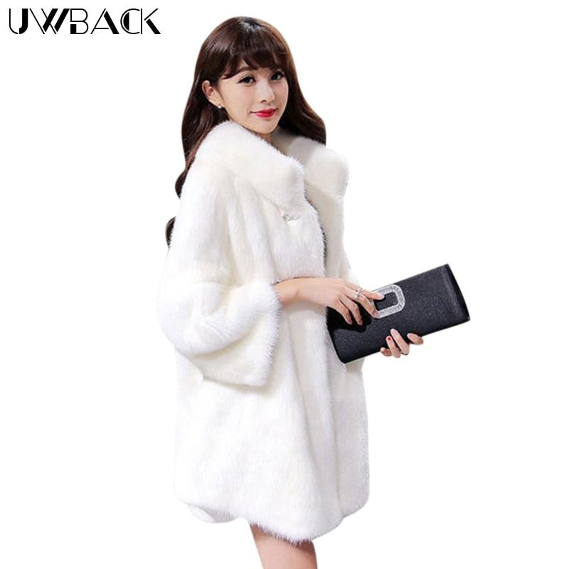 Femmes noir New Collier De Haute Taille Fourrure Plus Eb218 fin Manteau Uwback Vison Cheveux Outwear Hiver Avec 2017 Beige Mujer La En white Femme Fausse 4AfndF