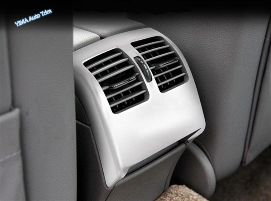 Lapetus Armrest Box Rear Air AC Vent Outlet Cover Trim For Mercedes Benz C-Class W204 <font><b>C200</b></font> <font><b>2010</b></font> - 2013 Matte / Carbon Fiber Look image