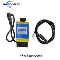 Daedalus 15 Вт лазерная головка с фиксированным фокусом лазерный модуль 1500 МВт нержавеющая сталь резка «сделай сам» ttl модуль для древесного мар