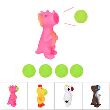 Creative Spit Balls Animal Popper Toys Shooting Squeeze Toys Creative Toys Stress Relief Antistress Toys For Children(China)