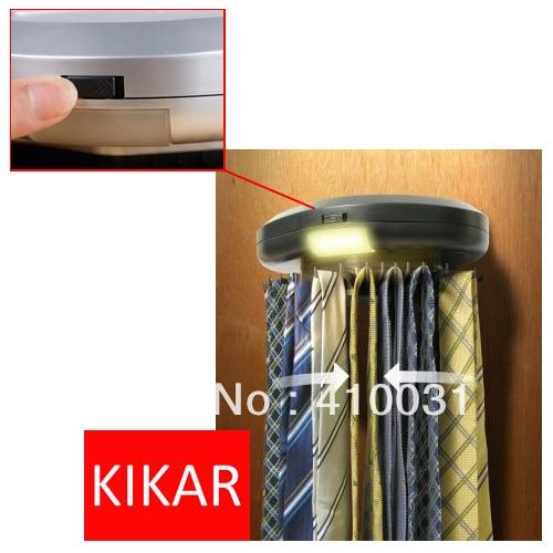 KIKAR Electric Motorized Neck Tie Hanger Automatic Revolving Belt Rack Scarf Organiser Electronic Organizer Tracker not a toy