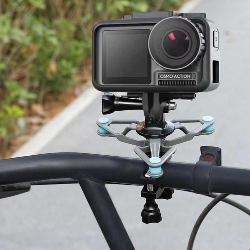 Для DJI OSMO Action Bike Клип велосипедный зажим алюминиевый удлинитель фиксированный Соединительный комплект адаптер 1/4 винт Gimbal камера аксессуар