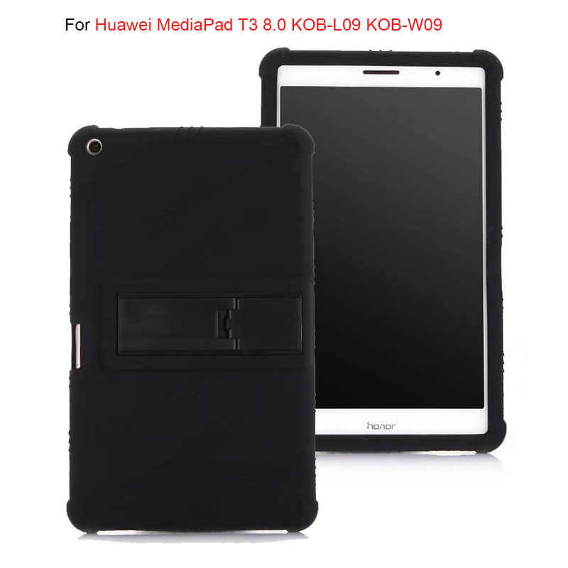 Soft Back Cover for Huawei MediaPad T3 8.0 KOB-L09 KOB-W09 stand Soft Silicone Back Cover Case for huawei T3 8.0 tablet case
