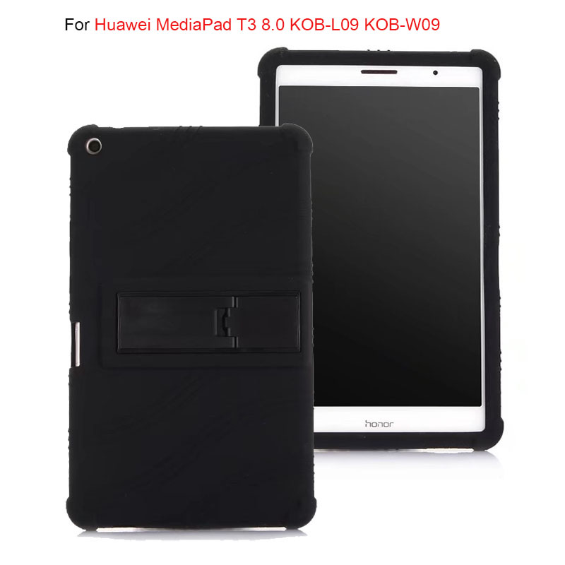 все цены на Soft Back Cover for Huawei MediaPad T3 8.0 KOB-L09 KOB-W09 stand Soft Silicone Back Cover Case for huawei T3 8.0 tablet case онлайн