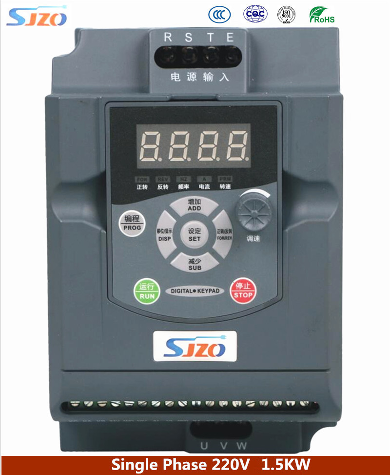 SIZO 100M Sery 1.5KW VFD Variable Frequency Drive Inverter 1HP 220V Auto Voltage Regulation Ensuring the Inverter Load Capacity