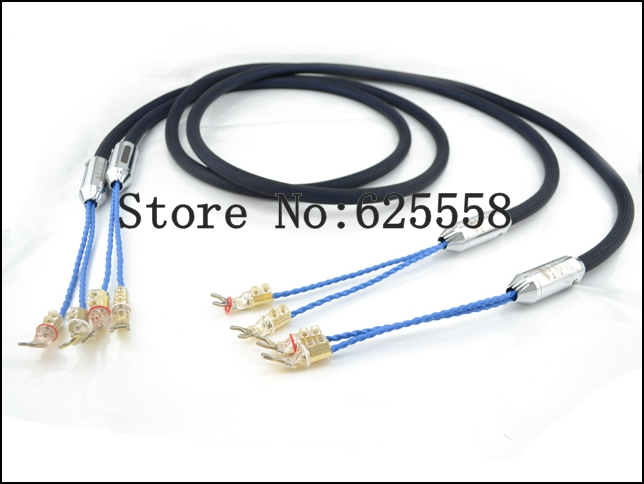 цены Siltech 770L 25th Classic Anniversary speaker cable silver-gold wires with WBT-0681Cu Y Spade connector