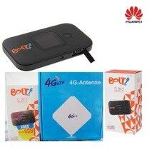 Huawei e5577 разблокирована черный LTE 4 г и 3G мобильный МИФИ Wi-Fi Беспроводной модем e5377 + 4 г антенны