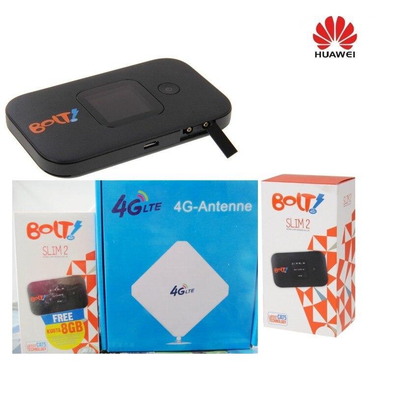 HUAWEI E5577 débloqué noir LTE 4G & 3G Mobile MiFi WiFi Modem sans fil E5377 + antenne 4g
