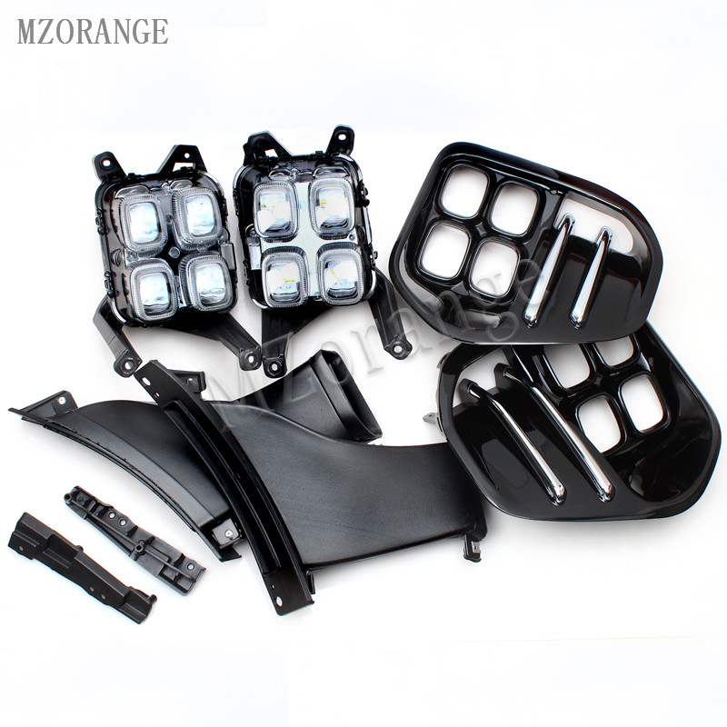 MZORANGE DRL LED 2016 2017 2018 For KIA Sportage4 QL Daytime Running Lights Car Driving Light
