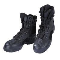 2017 الجديدة الرجال جلد الأحذية القتالية الصحراء العسكرية التمهيد تان الأسود الخفيف جودة عالية أقمشة جلدية أحذية الجيش