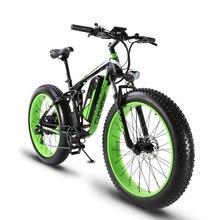 Cyrusher Upgrade XF800 750W 48V Electric Bike Full Suspension frame 7 Speeds widewheel road Bike outdoor