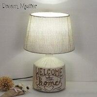 The Nordic Minimalist Retro Ceramic Living Room Lamp Romantic Bedroom Bedside Lamp Study Creative Decoration Lamp