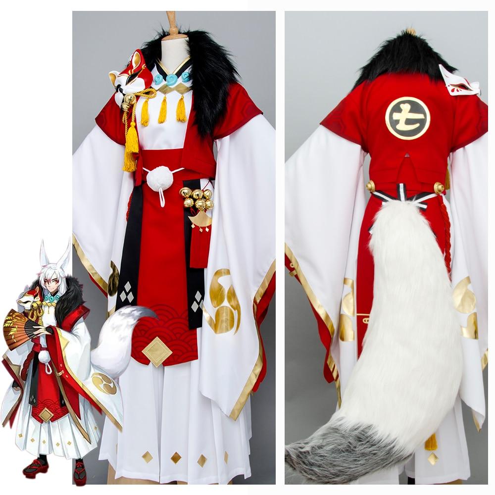 Yin Yang Master Onmyouji Fox Cosplay Costume Outfit Kimono Suit