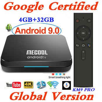 Mecool Androidtv 9.0 KM3 KM9 Pro ATV Box Google Certified S905X2 4K Media Player 2.4G/5G WiFi KM9 Android 9.0 Smart Set Top Box
