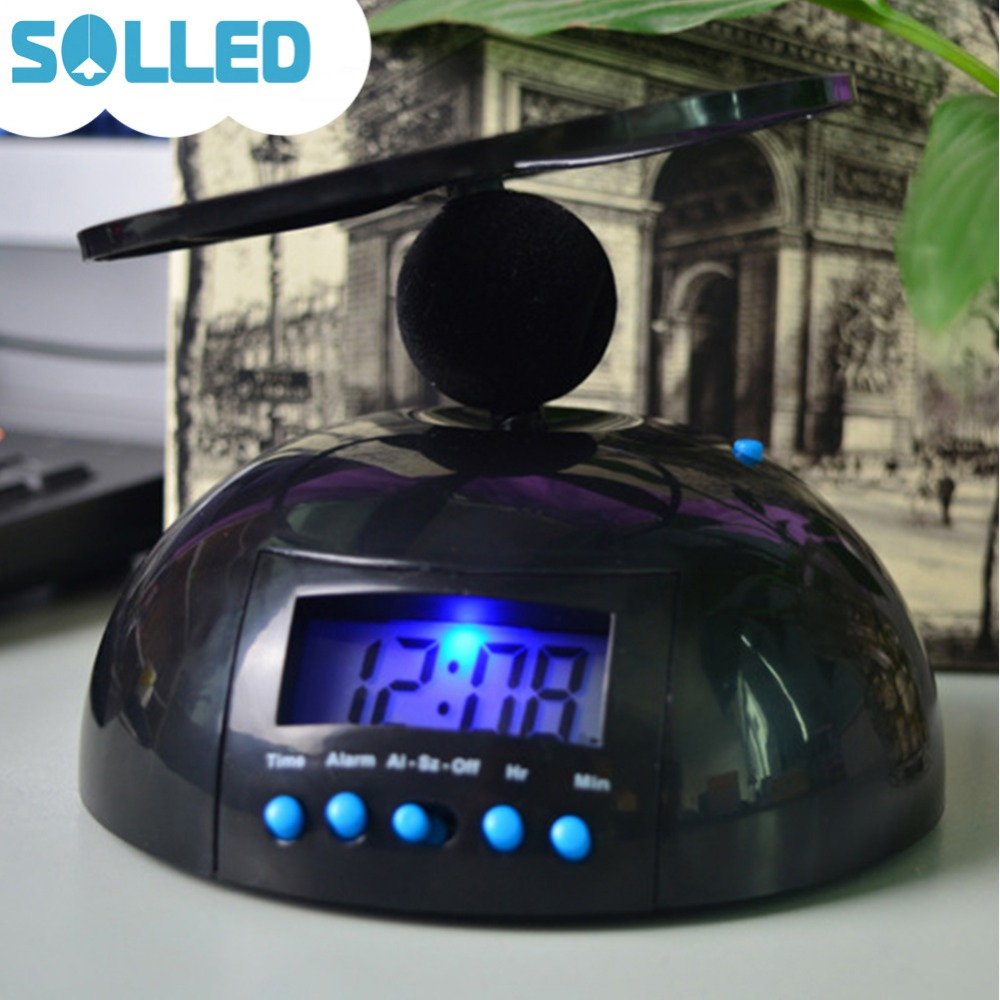 SOLLED Creative Interesting Flying Alarm Clock Time Setting Wake-up Tool Decoration Christmas Halloween Birthday Gift ...