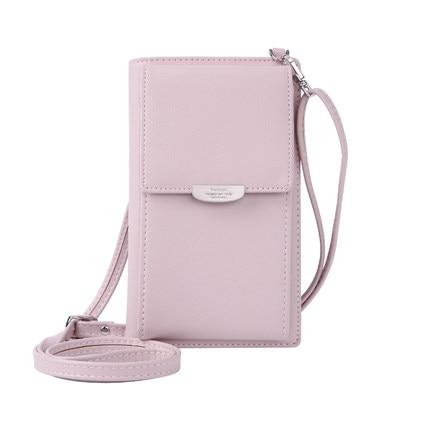 Новинка, Женский кошелек на каждый день, брендовый кошелек для мобильного телефона, большие держатели для карт, кошелек, сумочка, клатч, сумка на ремне через плечо - Цвет: pink