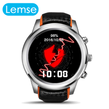 2016 New Hot LEM5 Android 5 1 OS Smart watch MTK6580 1 39 AMOLED Display 3G