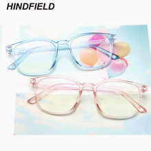 Korean Fashion Clear Glasses Women 2019 New Spectacle Frame Square Fake Glasses Pink Optical Eyeglasses Frame Transparent Oculos(China)