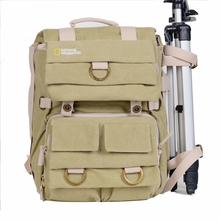 National Geographic Waterproof Canvas Camera Backpack Casual SLR Bags Camera Bag Laptop Bags National Geographic Photography Bag цена и фото