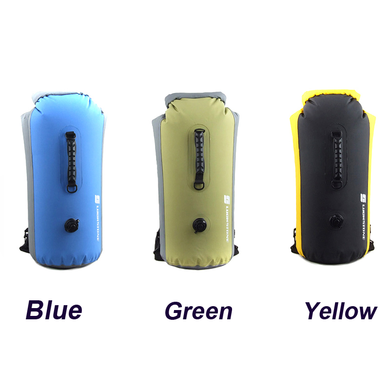 25L/35L/60L Outdoor 500PVC Waterproof Diving Bag Travel CampingDry Bags Kayak Canoe Rafting Bag Waterproof Double-Shoulder Bag l