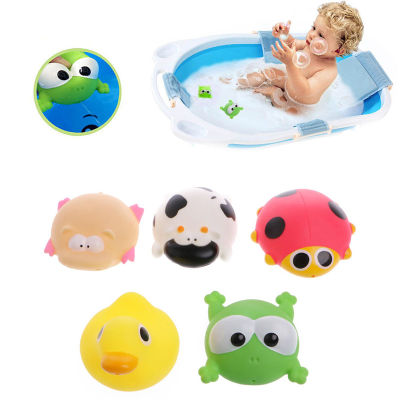 Cute Animals Baby Kids Bath Play Toys Float Spray Water Swimming Pool Shower New