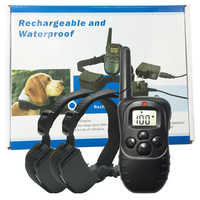 Pet Training Collar Rechargeable Waterproof LCD 100LV 300M Remote Pet Dog Training Collar Anti Bark for two dogs