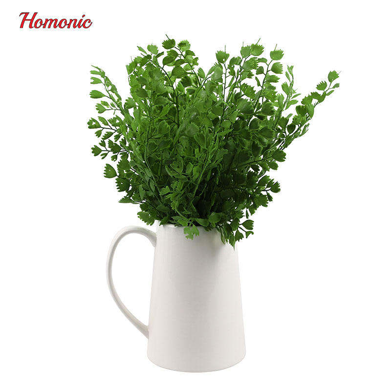 1PCS Mini Flowers Green Artificial Plant Eucalyptus Plastic Money Leaves Grass Bush Home Decoration Fake Wreath