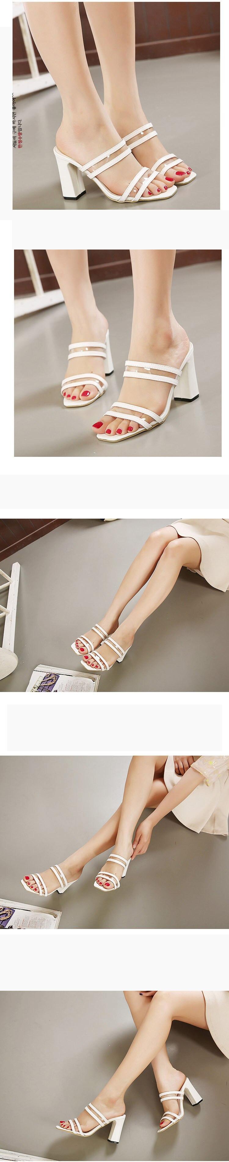 HTB1p2Dah4TI8KJjSspiq6zM4FXaG Eilyken Summer Fashion Woman Sandals Shallow Rome Mouth Female Casual Square heel Ladies thick Sandals Shoes White BLACK SIZE 40