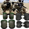Military Tactical Protective 1Pair Kneepad + 1Pair Elbow Support Airsoft Paintball Combat Knee Guard Protector Sports Equipment