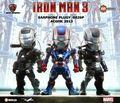 3 unids/set Iron Man 3 de Marvel los vengadores Iron Man MK42 guerra Mechine ataque huevo Iron Man PVC luz LED y la figura de acción de recogida de juguetes KB0141