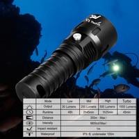 ThorFire Diving Light Torch Powerful LED Flashlight Professional Submarine Light Underwater 100M Waterproof Searchlight 18650