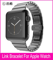 TOP Quality Link Bracelet For HOCO Apple Watch Band 42mm 38mm Black Silver Gold Stainless Steel